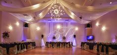 Grand Ballroom 77074 Houston DJ ligths production gobo designs – Demers Banquet Hall