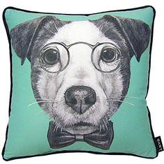 """G Jack Russell Terrier Pillow, 16"""" x 16"""""""