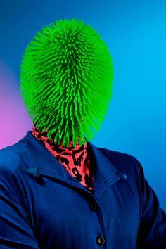 mr green, kavaj, head, grass