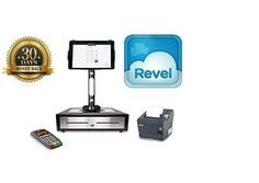 Retail POS System Featuring QuickBooks Revel POS. Revel POS equipment- iPad, stand, drawer, receipt printer, all connection cords, and manuals.