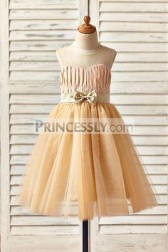 6ee9faf6171 Mint Chiffon Gold Sequin Peter Pan Collar Wedding Flower Girl Dress ...