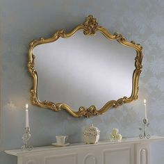 Versaille Gold Wall Mirror | Dunelm