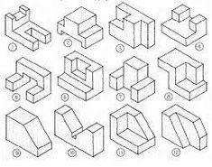 Resultado de imagen para ejercicios de perspectiva a partir de trama isometrica