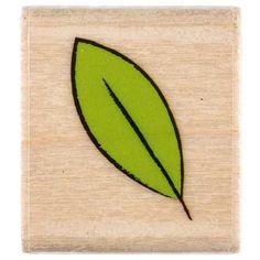 Simple Leaf Rubber Stamp