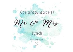 Personalised Wedding card Mr and Mrs card Personalised Personalized Wedding, Wedding Cards, Congratulations, Greeting Cards, Handmade Gifts, Etsy, Wedding Ecards, Kid Craft Gifts, Craft Gifts