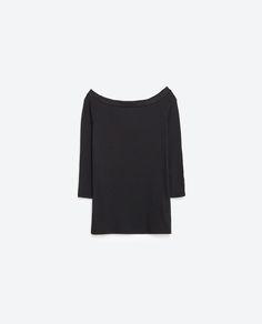 Imagem 8 de T-SHIRT DECOTE CAICAI da Zara