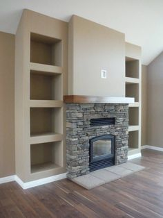 Basement Fireplace, Fireplace Remodel, Living Room With Fireplace, Fireplace Design, Living Room Decor, Apartment Makeover, Traditional Fireplace, Family Room Design, New Home Designs