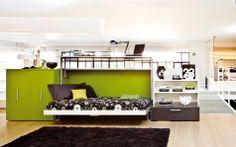 Designer Schrankbett und Schreibtisch Cabrio In