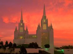 San Diego California Temple in the morning
