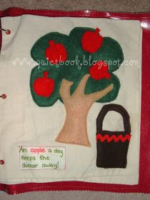 How to Make a Quiet Book: Page 19: Apple Tree