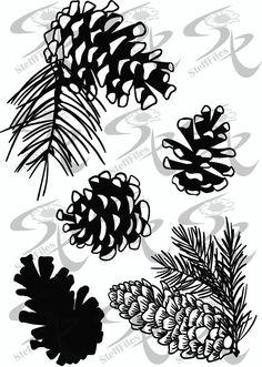 Pine Cone Drawing, Tree Logos, Portraits, Pine Cones, Invitation Design, Digital Image, Framed Art, The Help, Digital Prints