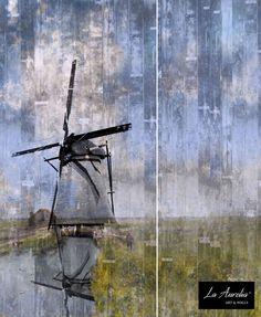 Through the Ages Mural en Extensions Wallpaper by La Aurelia