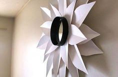 Hometalk :: This sunburst mirror is made from poster board and cost a total of $6.…