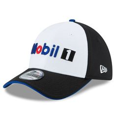 Tony Stewart New Era Mobil 1 Driver 39THIRTY Flex Hat - White - $23.99
