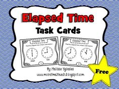 FREE These 20 task cards focus on the difficult concept of Elapsed Time. Year after year I've noticed that my students seem to struggle with this concept. As a result, I decided to create a set of task cards focusing on this skill and am sharing it with you, my loyal followers.