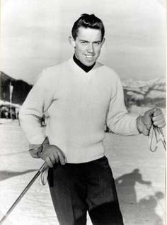 Ernst Hinterseer  - Winter Olympics 1956 Austrian National Skiing Team Member wearing a GEIGER wool ski sweater made specially for the occasion. Although only getting 6th place in 1956, he won gold in 1960 in the Winter Games in Squaw Valley. - Google Search