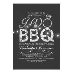 Backyard Wedding Rehearsal Dinner I do BBQ rehearsal dinner invitation