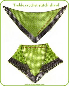 free pattern: It's made using only two stitches: chain and treble crochet. It´s very easy and fast to crochet.