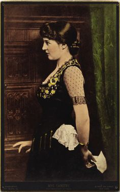 COLOR BONNAUDTYPE IMAGE OF LILLIE LANGTRY