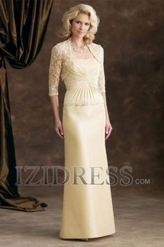 A-Line Strapless Taffeta Mother Of The Bride Dress - IZIDRESS.com