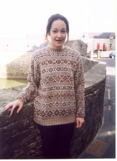 Traditionally the Shetland patterning is larger than that of the fair isle patterns. This is the 'Selkie' pattern