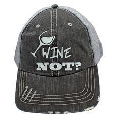 77d66a72b21 Wine Not  Cute Truckers Hat Baseball Hat. New Condition.  fashion  . Baseball  HatsCaps ...