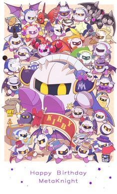 Kirby! HAPPY BIRTHDAY META KNIGHT!
