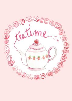 Postcard Tea time Illustration by Charlottetheteapot on Etsy, Whatever Forever, Tea Quotes, Fun Cup, Tea Art, My Cup Of Tea, Tea Cakes, Tea Time, Etsy, Stay Classy