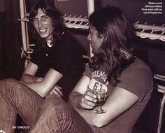 Rodger Waters & David Gilmour- in earlier days of Pink Floyd |