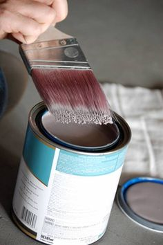 before and after basics: dry brush painting | Design*Sponge