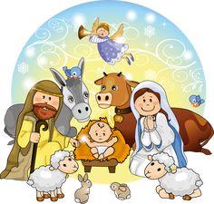 CUTE CHRISTMAS NATIVITY SCENE CLIP ART