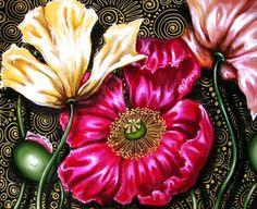 "Saatchi Art Artist Cherie Roe Dirksen; Painting, ""Iceland Poppies"" #art"