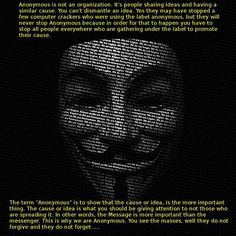 Anonymous is not an organization | Anonymous ART of Revolution