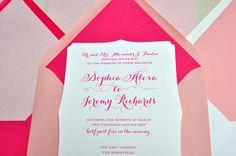 sweet in pink wedding invitations