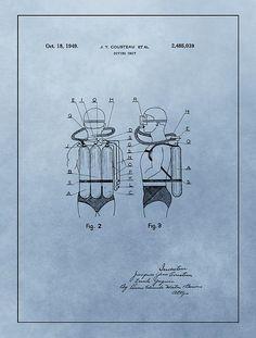 Jacques Cousteau Diving Suit Patent