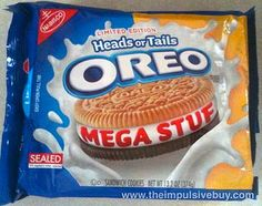 Limited Edition Heads or Tails Oreo Mega Stuf