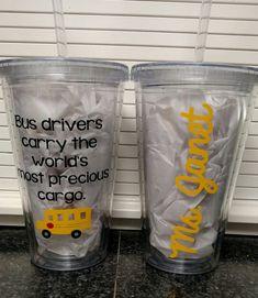 Bus Driver Precious Cargo Personalized Acrylic by PrettiesByJenny