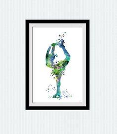 Ice skating watercolor print Figure skating by ColorfulPrint Watercolor Texture, Watercolor Print, Ice Skating, Figure Skating, Kids Ice Skates, Mermaid Wall Decor, Skate Art, Kids Room Wall Art, Colorful Paintings