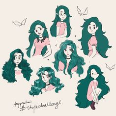Emilee x The Style Challenge Cartoon Kunst, Cartoon Drawings, Cartoon Art, Cute Drawings, Art Challenge, Drawing Challenge, Pelo Anime, Anime Oc, Doodle Drawing