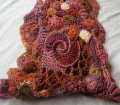 Freeform Crochet neck cowl Sunday Morning by 2SistersStringworks, $90.00 --- wow! Inspiring threads!