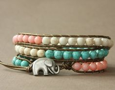 Love this Lucky Elephant Bracelet by www.theluckyelephant.etsy.com