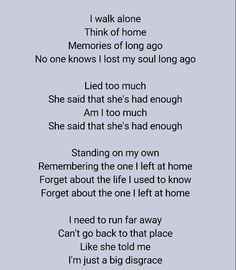 On My Own by Three Days Grace