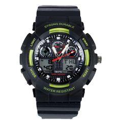 Tropez Outdoor Analog Digital Sports Watch - Green
