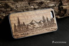 Nature Mountains Forest Wood Case iPhone 7, iPhone 6S, iPhone 6 Plus, iPhone 5/5s, iPhone 5C, iPhone 4/4S Wooden Gift Gadget Gifts For Men