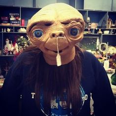 The infamous E.T. mask from 1982 #halloween #costume #film
