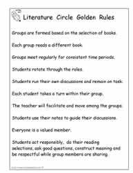 literature circle role rubric via worksheet place classroom ideas rh pinterest com Examples Literature Circles Literature Circle Questions