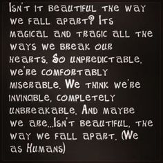 We Fall Apart by We As Human--truly a beautiful and slower worship song, I love it :)