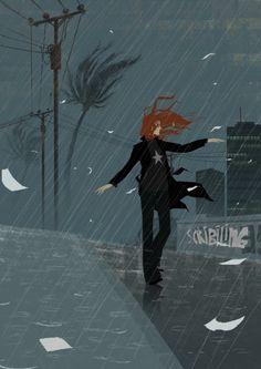 Rain on me #illustration