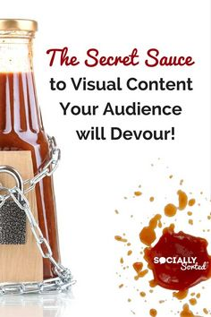 Want to know the Secret Sauce to Visual Content Your Audience will Devour?  Read more on the blog!  via @sociallysorted