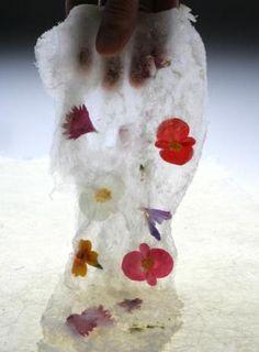 El Bulli: papel de algodón dulce con flores